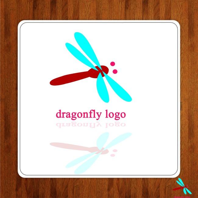 服饰服装公司logo蜻蜓飞翔标志设计下载
