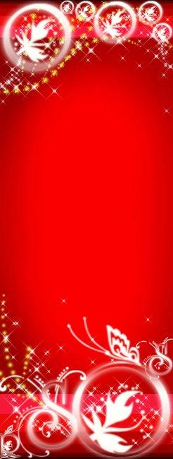 红色背景x展架模板