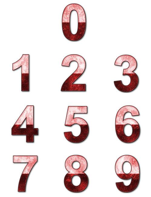 红色质感数字模板下载(图片编号:1292416)_插画|元素