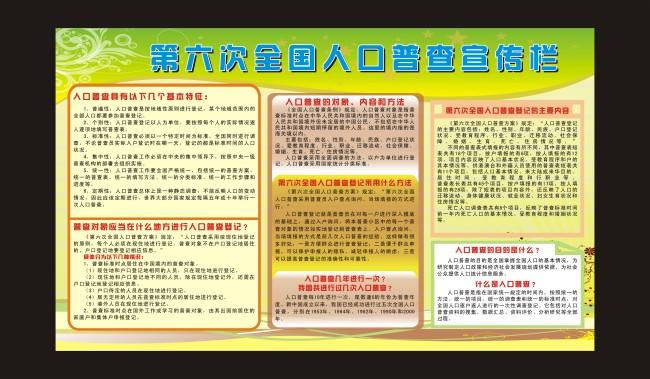 人口普查素材模板下载 1300345 其他展板设计 展板设计 党政 学校 企业