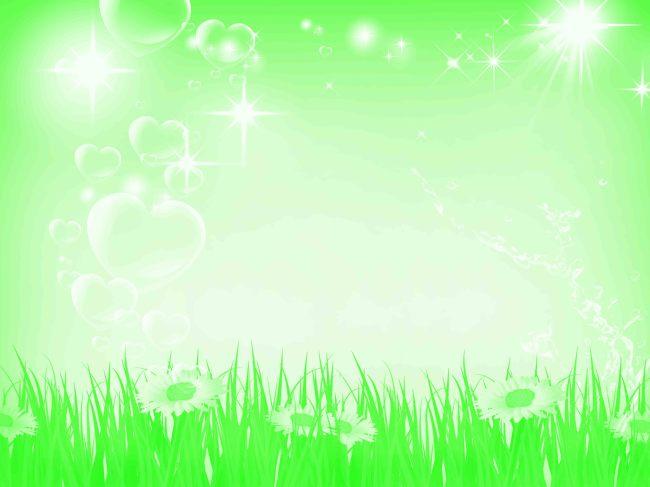 绿色风景海报背景模板