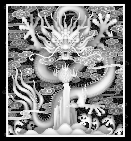 云龙版系列模板下载 云龙版系列图片下载 精雕灰度图 风景 窗花 精雕