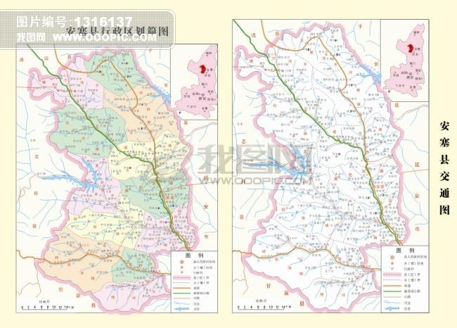 延安市详细地图