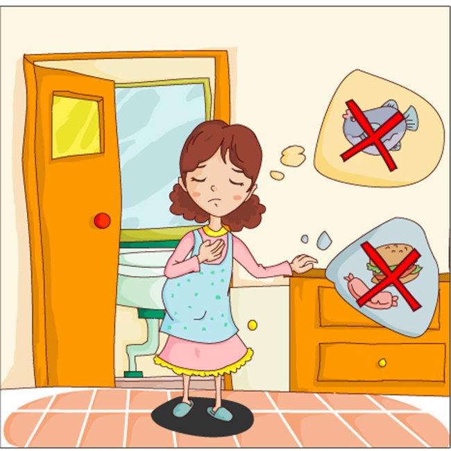 卡通孕妇插画—怀孕的辛苦模板下载 卡通孕妇插画—怀孕的辛苦图片