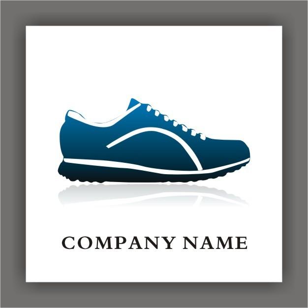 运动鞋行业矢量标志logo设计下载