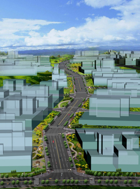 道路绿化设计模板下载