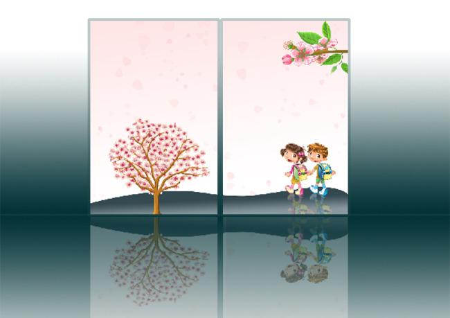 两门卡通儿童房移门下载图片