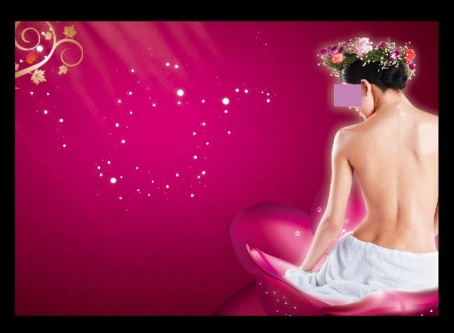 背景/[版权图片]粉红背景贵妃出浴图