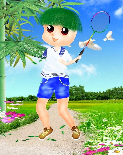 运动的男孩图片下载儿童儿童模版小男孩 小男孩子 小男孩与花 小男孩