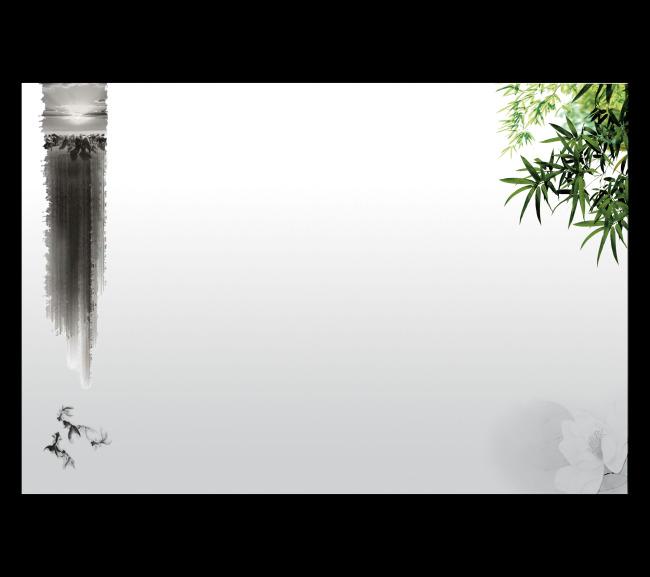 水墨畫海報背景