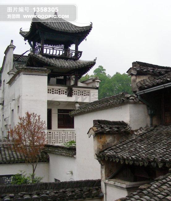 黄山古建筑风景
