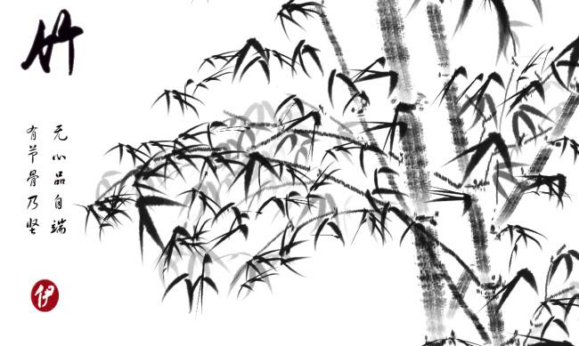 水墨画竹模板下载(图片编号:1365646)