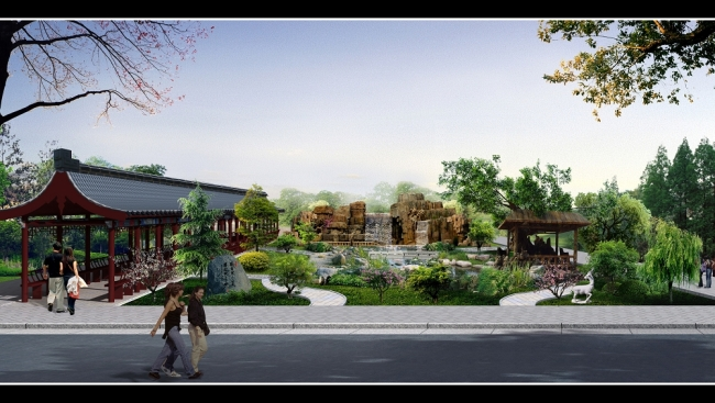 园林景观设计效果图模板下载