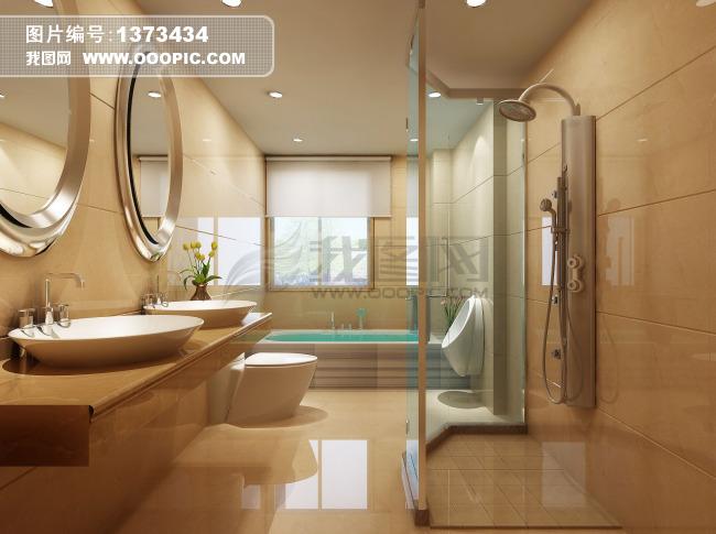 高档卫生间效果图设计