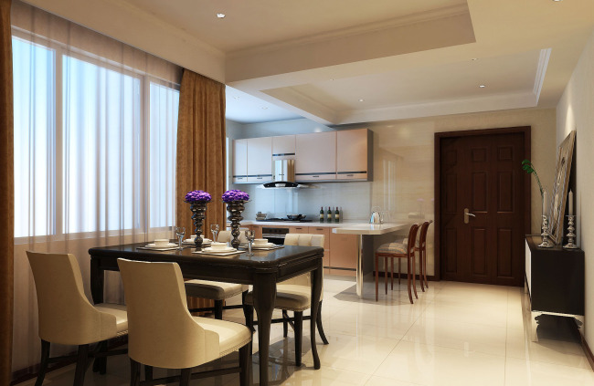 高档客厅效果图设计