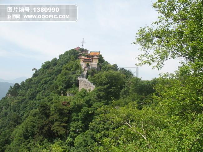 远眺西安南五台景区之观音台风光