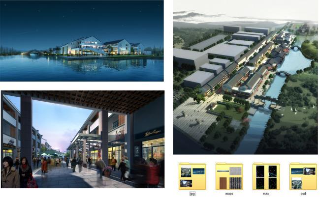 3d效果图 城市景观