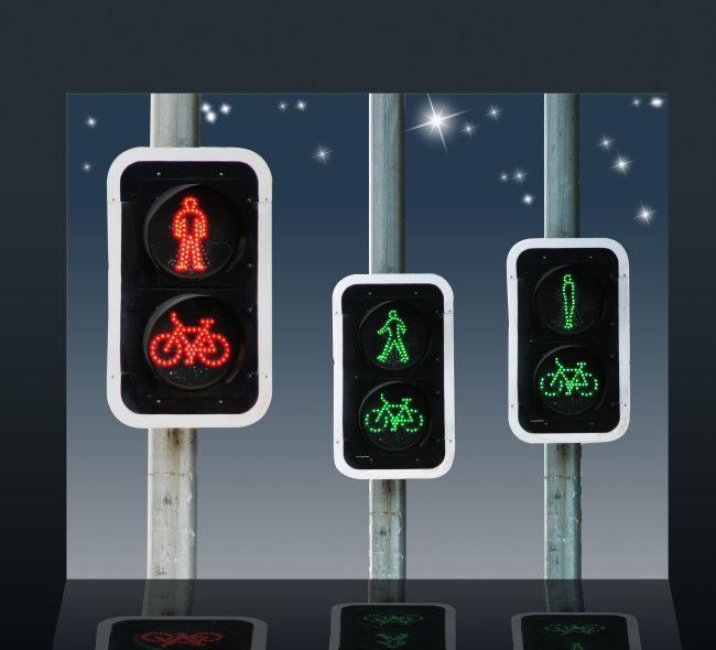 关键词: 红绿灯素材 交通灯素材 交通标志 交通安全标志 夜空 星星