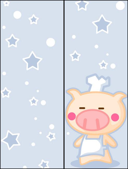 卡通动物玻璃移门图案psd下载模板下载(图片编号:)