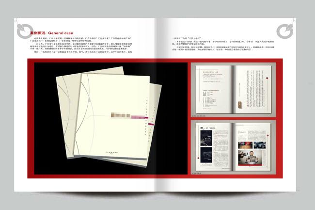 宣传画册模板模板样本漂亮线条背景设计作品集排版页画册书籍内页设计图片