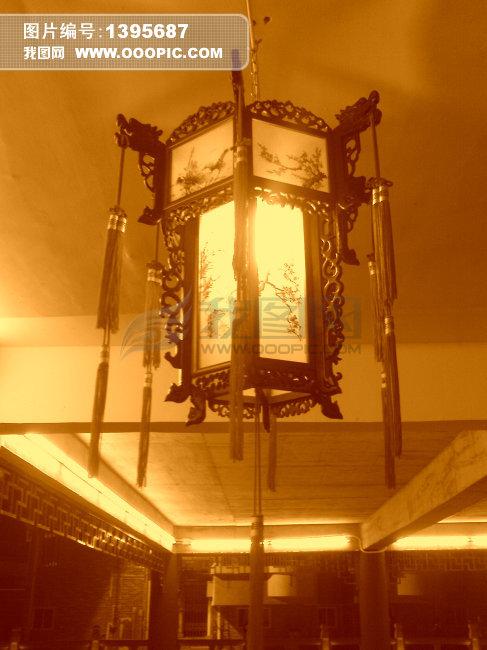 古风插画手绘灯笼
