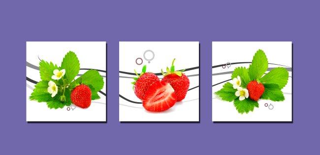 餐厅 草莓无框画模板下载 餐厅 草莓无框画图片下载 线条 草莓 现代