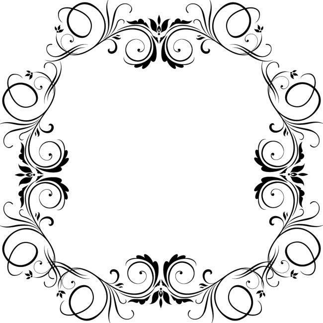 花纹边框背景素材; 方形图案