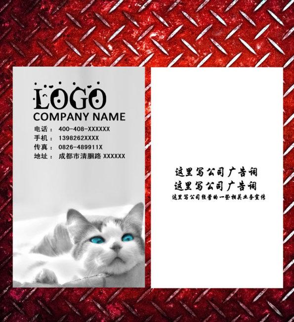 动物 名片模板下载