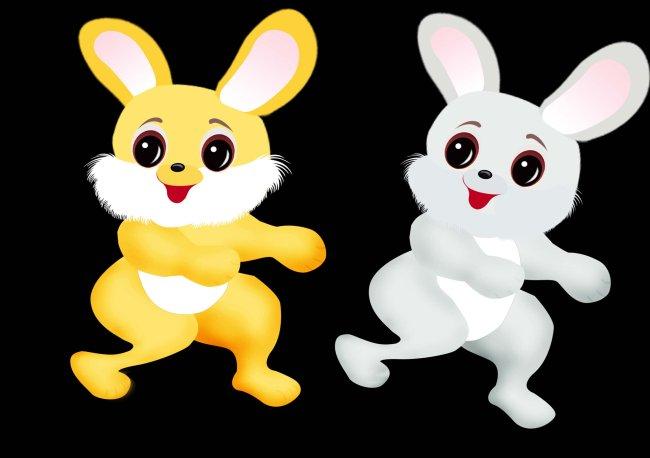 可爱小兔子 卡通兔 卡通兔图片