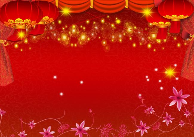 红色喜庆背景模板下载