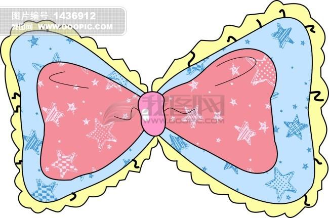 带蝴蝶结的卡通图片