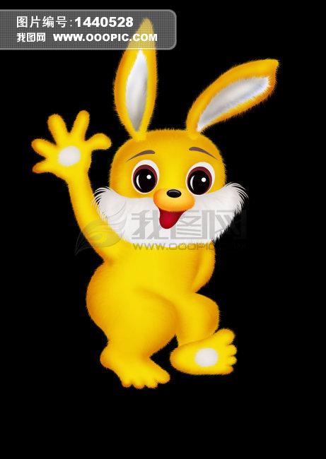 可爱的卡通兔子
