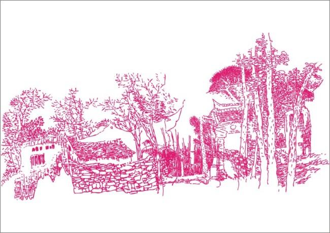 林间小屋-手绘画