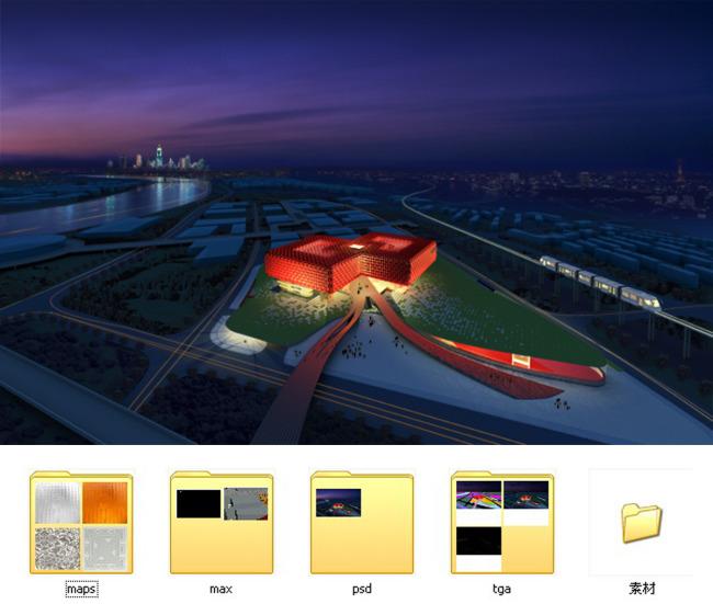 建筑效果图 建筑效果图全套资料 规划 城市规划 场馆效果图 场馆设计