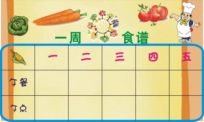 平面设计 画册设计 其它画册设计 > 幼儿园一周菜谱模板  下一张&nbsp