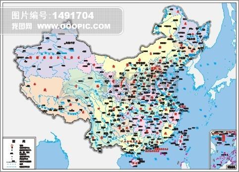 矢量cdr中国地图模板下载(图片编号:1491704)