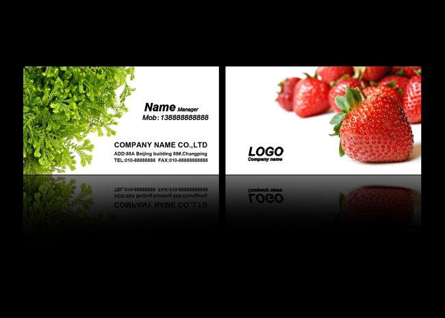 水果蔬菜名片模板
