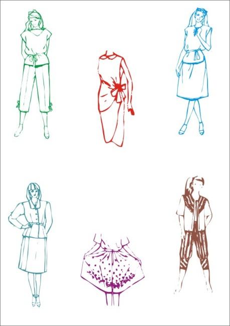 时装设计 服饰设计 时尚服饰 时尚服装 休闲装 时尚服装 礼服设计