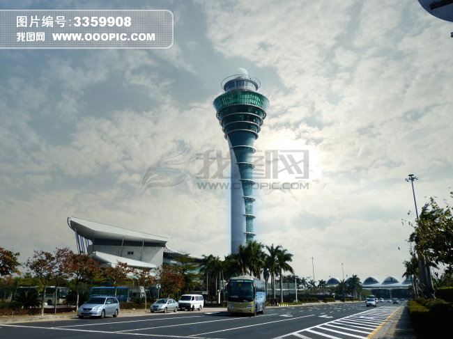 灯塔 航空 航空图片 蓝天 蓝天白云 远景 广州白云机场