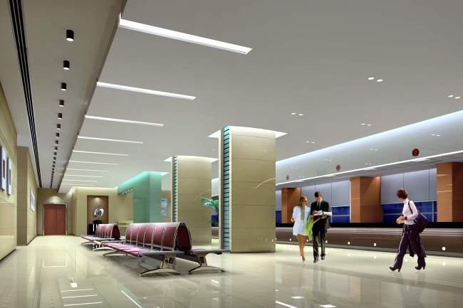 室内设计办税大厅设计效果图
