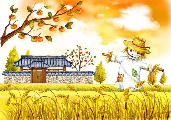 农民丰收的秋天卡通