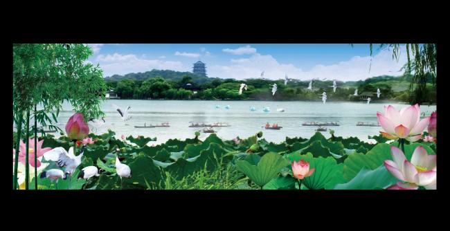 山水风景画 > 西湖