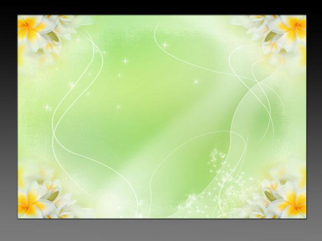绿色清新海报背景模板