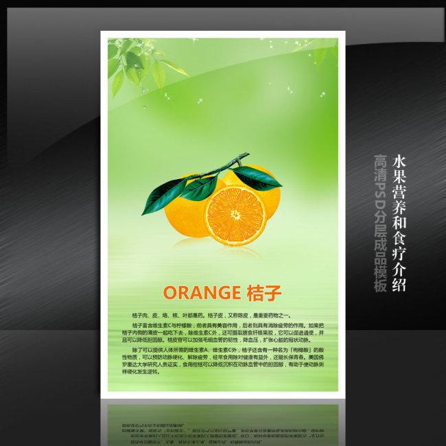橘子手绘宣传海报