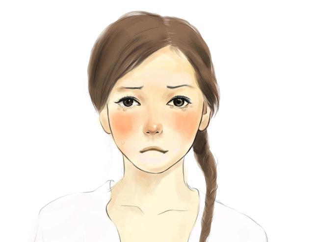 人物插画-哭