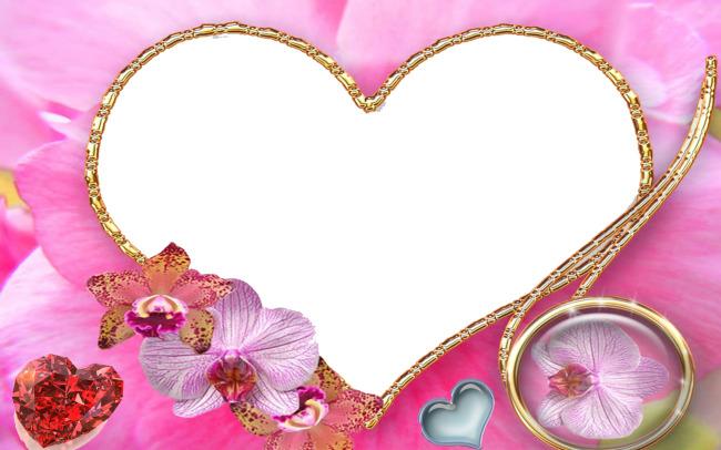 爱心相框模板下载  爱心 相框图片下载