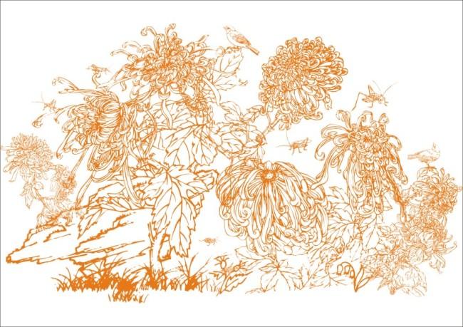 鸟语花香-手绘画