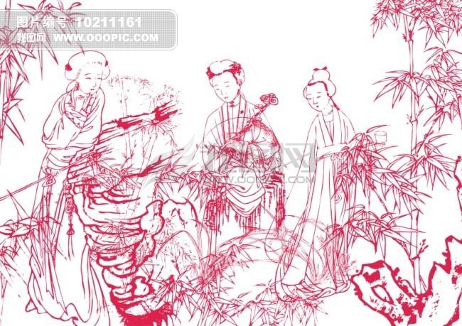 古代仙女铅笔画