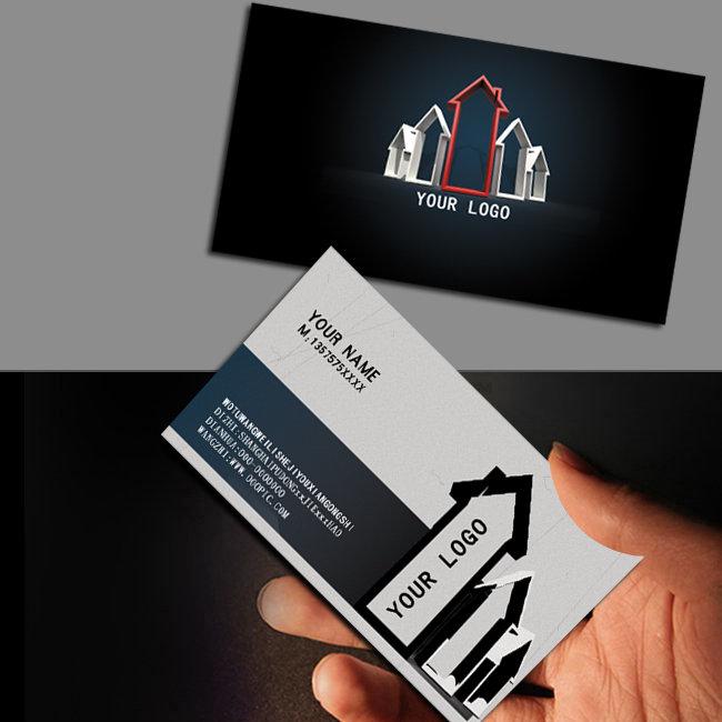 创意箭头房产名片设计模板下载(图片编号:10212142)