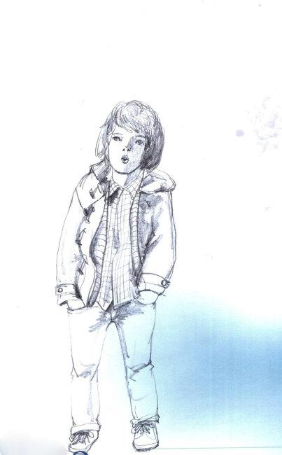 可爱儿童服装插画 插画手绘